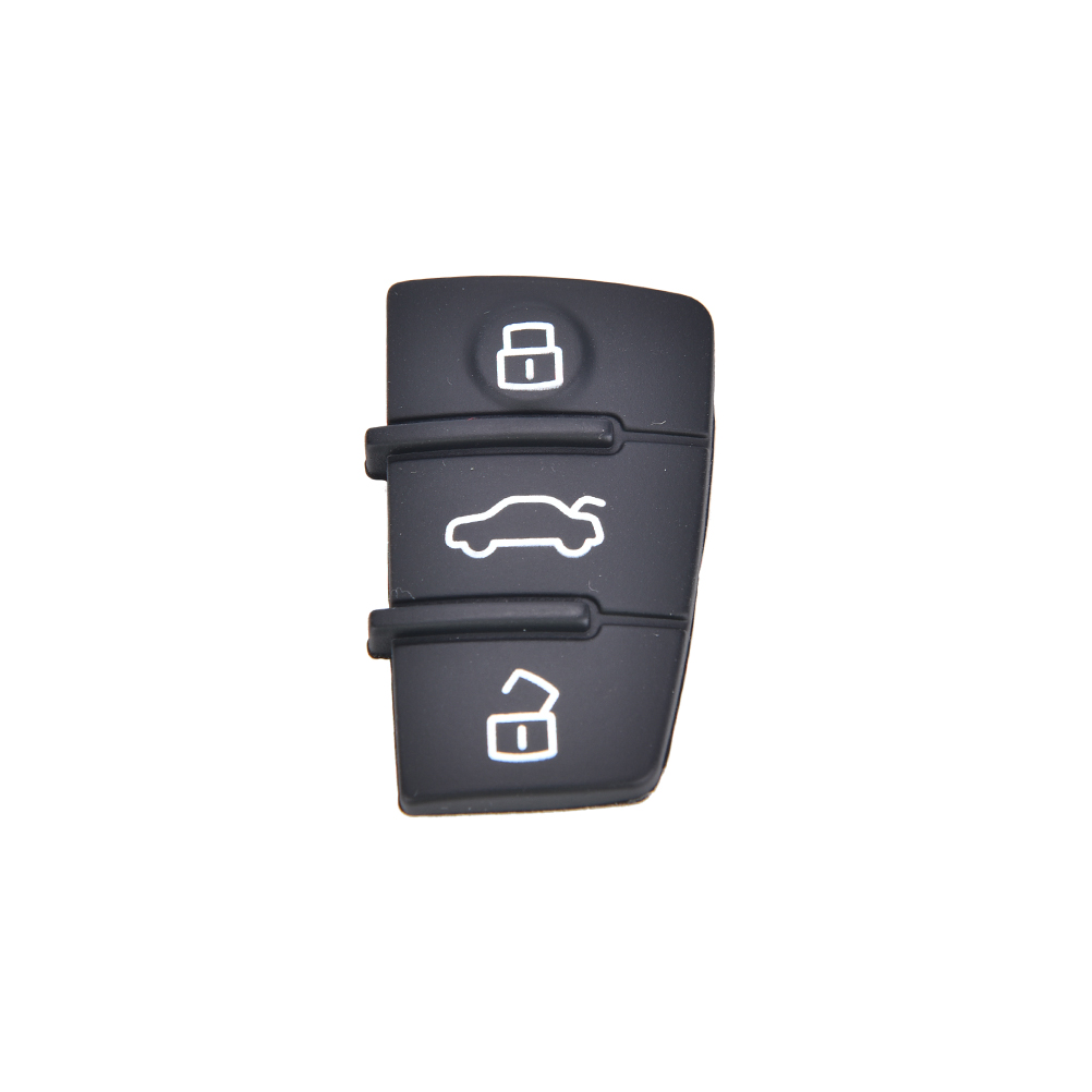 Repair 1 Pcs Remote Key FOB 3 Button Rubber Pad Replacement Fits For Audi A3 A4 A6  TT Q7