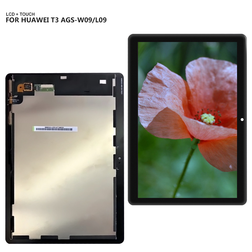 For Huawei MediaPad T3 10 AGS-L03 AGS-L09 AGS-W09 T3 Touch Screen Digitizer Lcd display assembly + Tools lcd screen display touch digitizer for 5 5 huawei g8 rio l02 rio l03 white black gold color free shipping