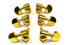 Grover Style Gold Semicircle Guitar Tuning Pegs Tuners Machine Head 3L+3R Free Shipping Wholesales