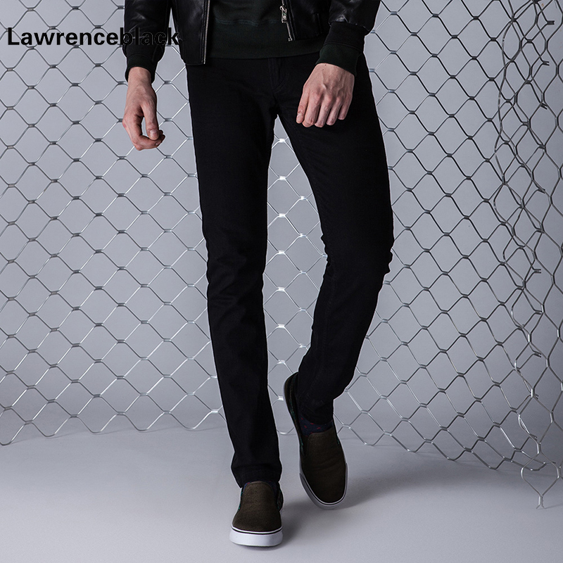 Lawrenceblack Brand Men Jeans Size 27 to 38 Black Stretch Denim Trousers Fit Men Jean for Man Pants Trousers Jean Slim Homme 838 pair of delicate faux pearl hook earrings for women