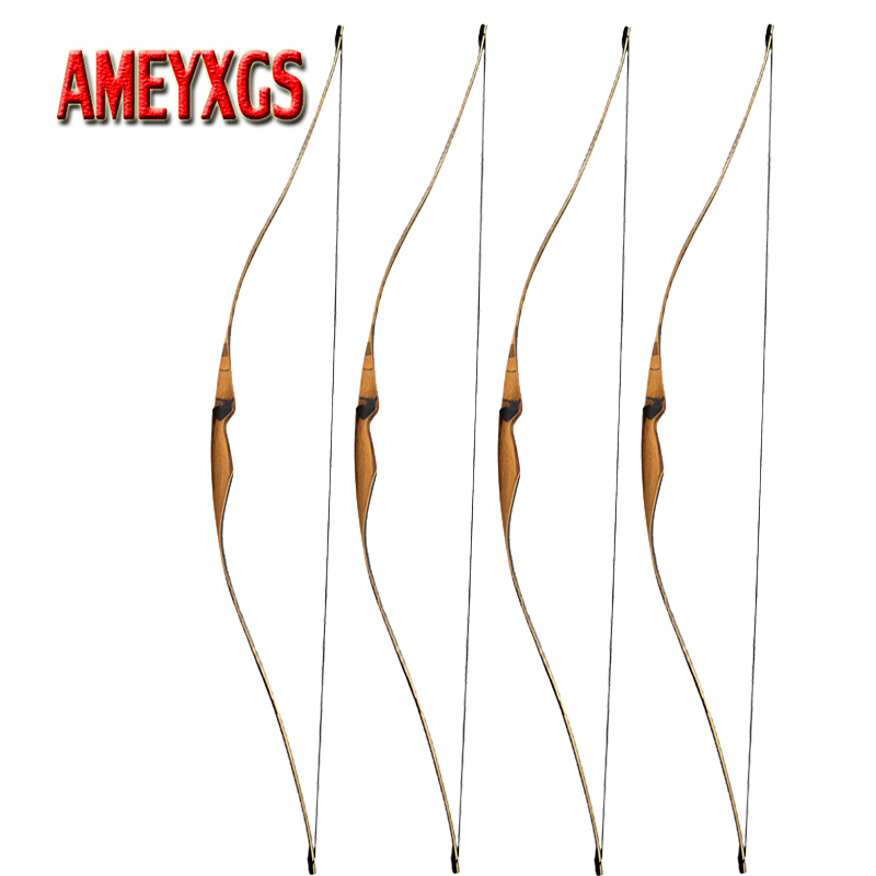 1 pc tir à l'arc 54 pouces 10-35lbs Longbow traditionnel arc à droite pour la pratique du tir Sports de plein air arc et flèche arcs de chasse