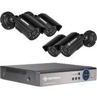 DEFEWAY HD Home Video Surveillance System 4CH Full 960H NVR DVR KIT 800TVL CCTV Waterproof Outdoor