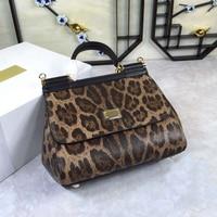 Luxury Italy Brand Sicily Ethnic Floral Bag Genuine Leather Casual Tote Platinum Bag Lady Shoulder Messenger Bag Bolsa Sac 25CM