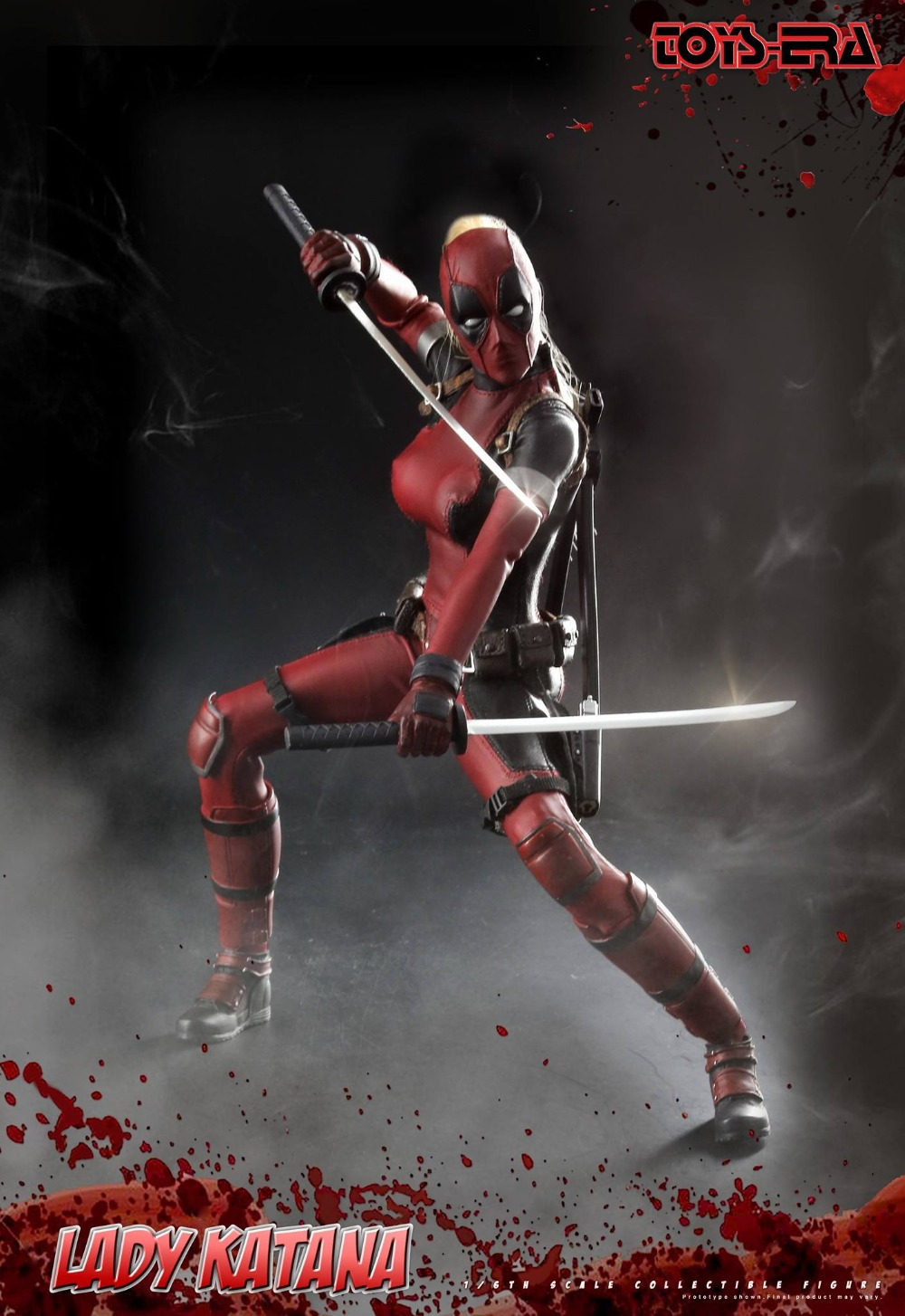 1/6 scale figure Female warrior Lady Katana in Deadpool clothing 12 Action figure doll Collectible Plastic Model Toys