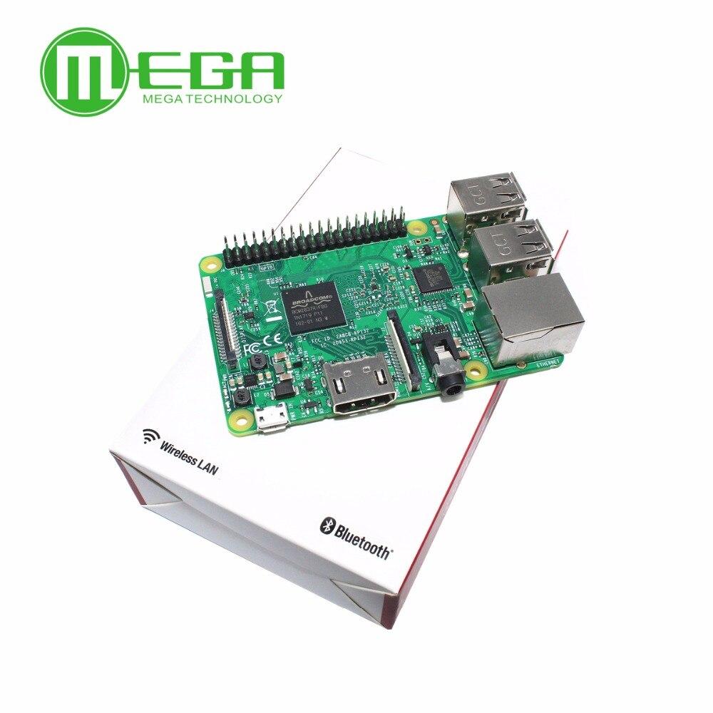 Nouveau Element14 carte d'origine Raspberry Pi 3 modèle B 1GB LPDDR2 BCM2837 Quad-Core Ras PI3 B, PI 3B, PI 3 B avec WiFi et Bluetooth