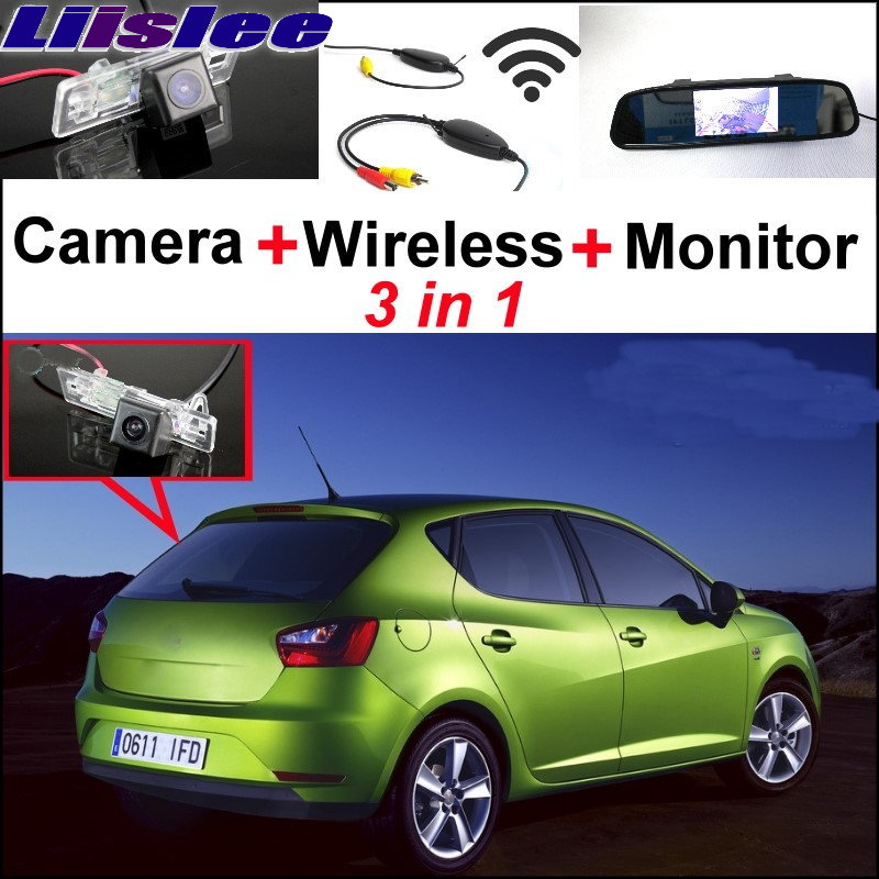 Liislee Special WiFi Camera + Wireless Receiver + Mirror Monitor 3 in 1 Backup Parking System For SEAT IBIZA MK4 6J ST liislee special wifi camera wireless receiver mirror monitor parking system for porsche 996 997 991 carrera 911 turbo gt2 gt3