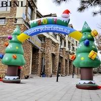 Индивидуальные гигантвечерние украшения партии Арка Xmas праздничные принадлежности надувные Рождество дерево арка для дороги