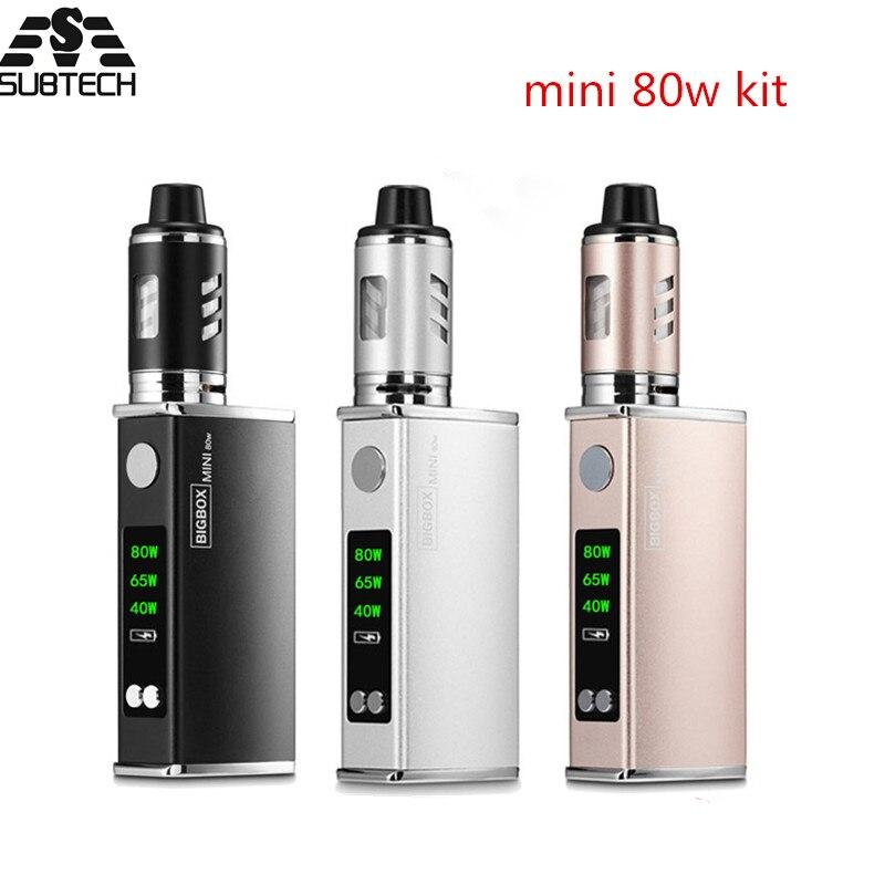 Original mini 80w kit electronic cigarette kit Built-in 2200mah battery LED display vape pen vaporizer Mechanical box mod kit