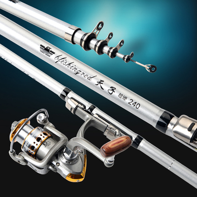 2019 Design Rock Fishing Rod Carbon Fiber Telescopic Fishing Rods Fishing Pole free shipping