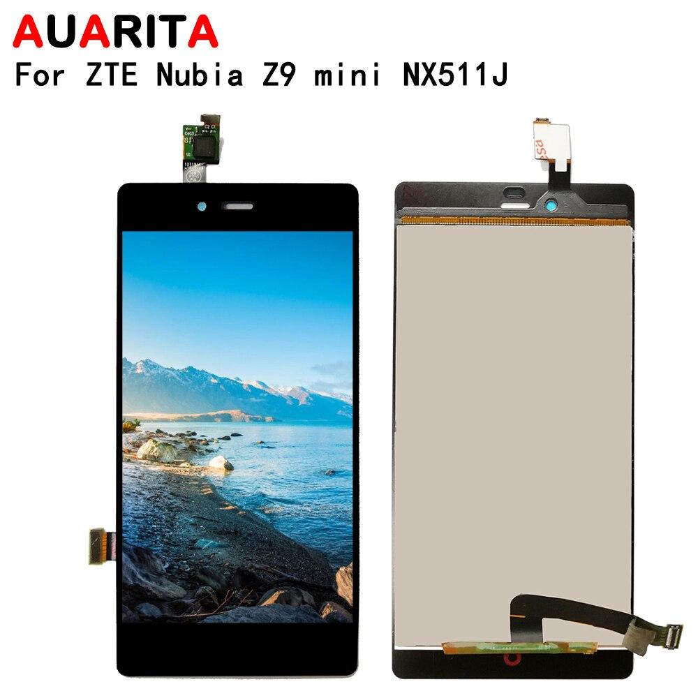 ЖК дисплей для ZTE Nubia Z9 MINI NX511J, ЖК дисплей, сенсорная панель, передний Внешний стеклянный экран, дигитайзер, сборка для ZTE Z9mini