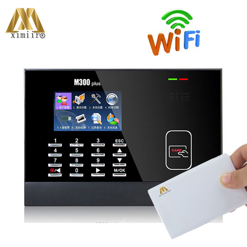 ZK Time Attendance Machine High Quality M300 Time Clock Device With MF IC Card And WIFI Communication