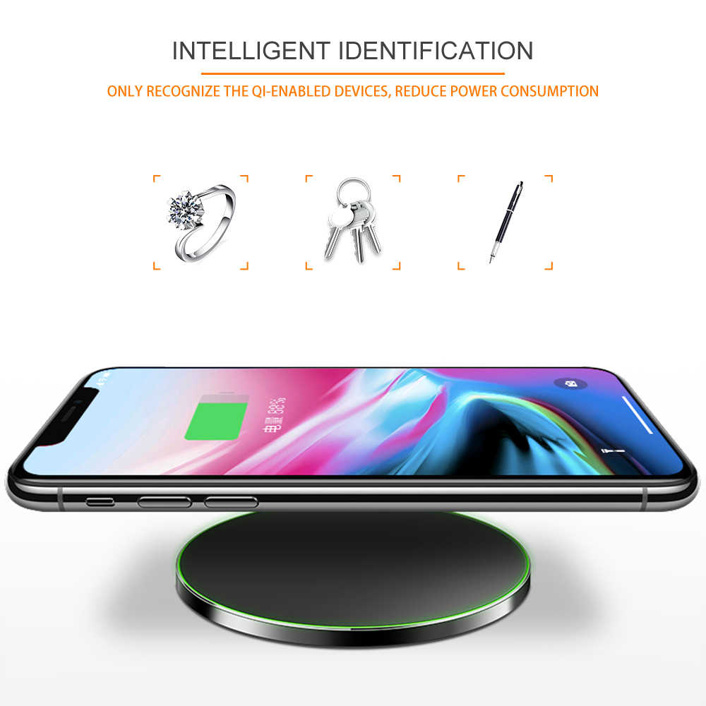 Qi Wireless Charger สำหรับ iphone X iphone 8 10 W สำหรับ Samsung S8/S8 +/ s7 Nexus5 Lumia USB Quick Charger Pad