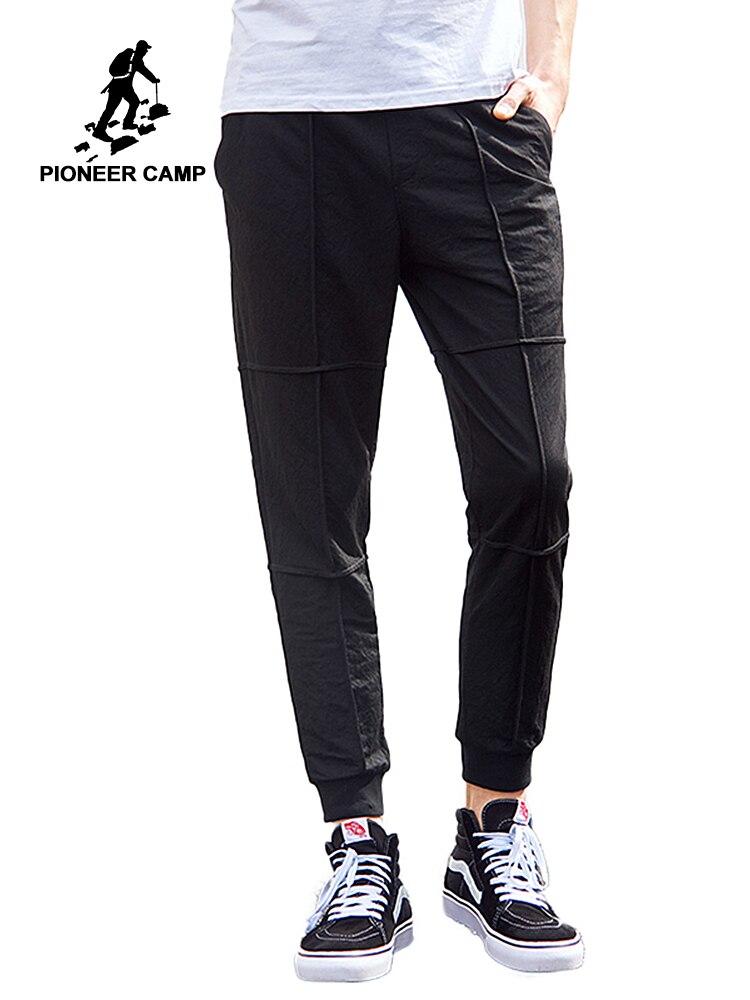 Пионерский лагерь тонкий ультра мягкая ткань повседневные штаны Мужская брендовая одежда удобные летние тонкие мужские наивысшего качест...