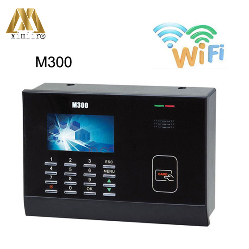 ZK M300PlusTCP/IP And WIFI 125Khz Rfid Card Time Attendance Punch Card Time Clock Color Screen