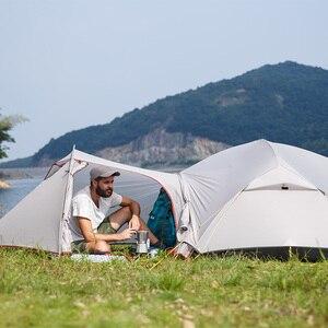 Image 5 - NatureHike Mongar קמפינג אוהל 2 אנשים Ultralight 20D ניילון אלומיניום סגסוגת מוט שכבה כפולה אוהל טיולים חיצוני NH17T007 M