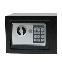 Caixa de segurança digital, cofre pequeno em aço para uso doméstico com mini cofre para dinheiro, caixa de segurança, armazenamento seguro de joias ou documentos chave chave,