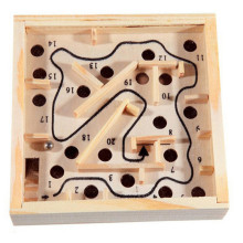 12*2.5cm Mini Wooden Labyrinth Board Game Ball In Maze Puzzle Handcrafted Toys Children Educational Toys Antistress Toy
