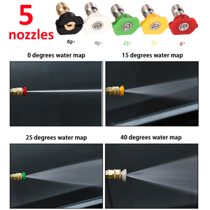 """Image 5 - 1/4"""" Quick Release Foam Gun Snow Foam Lance Professional Foam Generator Car Washer 5 Pressure Washer Nozzles for Cleaning"""