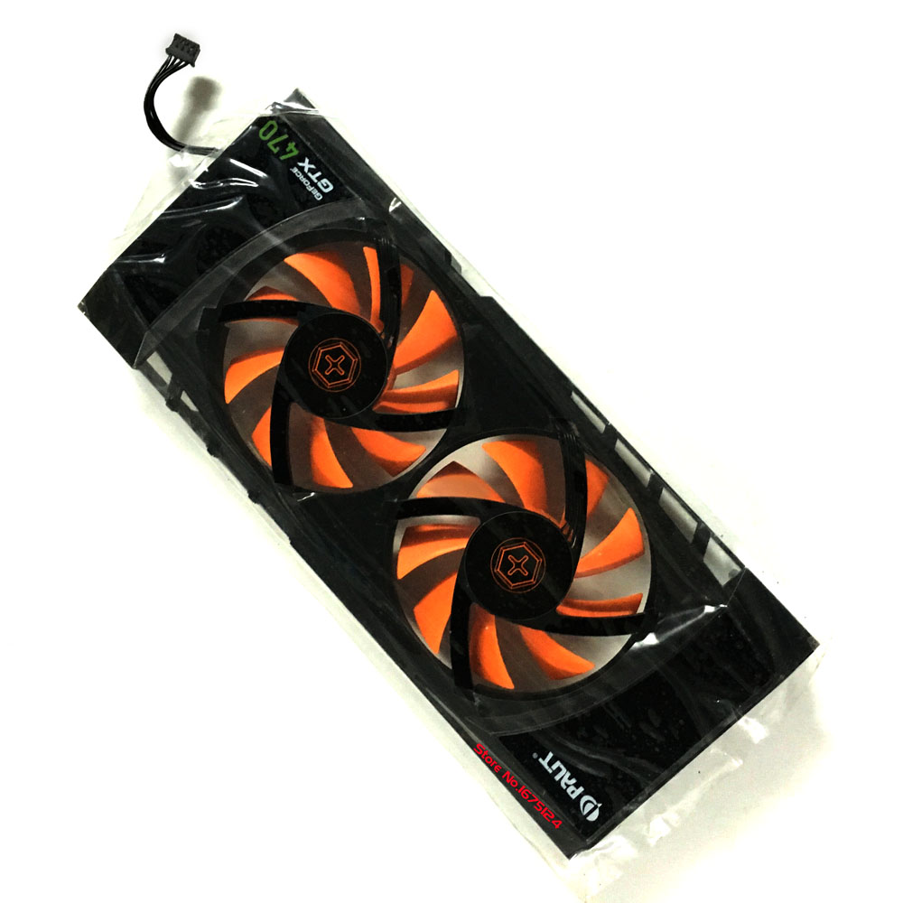 GPU cooler graphics card Palit gainward geforce GTX465 gtx 470 cooling fan PLA08015B12HH 12V 0.35A VGA Video Card Cooling free shipping diameter 75mm computer vga cooler video card fan for his r7 260x hd5870 5850 graphics card cooling
