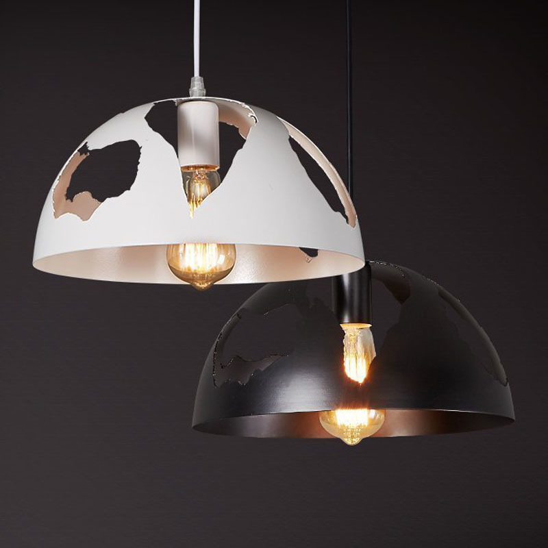 Vintage Hollow Iron Pendant Light Retro E27 Holder Creative Lamp Arts Bar Cafe Restaurant Hanging Lights Fixture Lighting PL634 american art creative retro vintage pendant lights spring iron hanging pendant lamp indoor iron black pendant lamp light