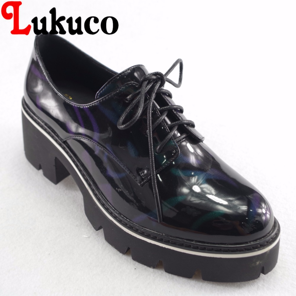 Lukuco concise style mixed color women pumps microfiber made med hoof heel shoes platform with pigskin inside lukuco pure color women mid calf boots microfiber made buckle design low hoof heel zip shoes with short plush inside