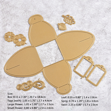 YaMinSanNiO 20.7 x 18.6cm 7Pcs Tag Metal Cutting Dies Box for Scrapbooking Craft DIY Stencil