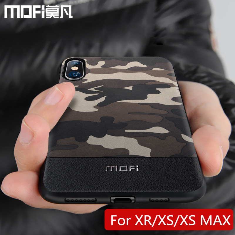 Camouflage Pattern Cover For <font><b>iPhone</b></font> <font><b>Xs</b></font> <font><b>Case</b></font> Fitted Back Cover Shockproof Protective <font><b>Cases</b></font> Capas MOFi <font><b>Original</b></font> Xr <font><b>Xs</b></font> <font><b>X</b></font> <font><b>Case</b></font> image