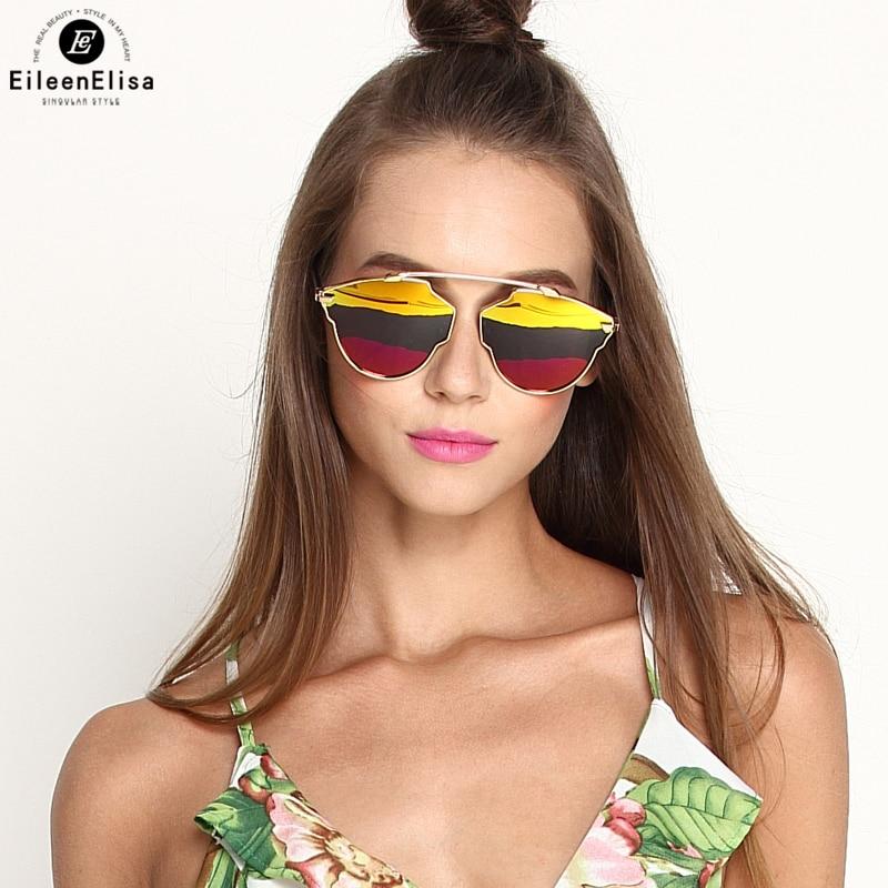 EE Fashion Women Sunglasses Cat Eye Shades Brand Designer Sun glasses Eyewear Three Color UV400 Oculos De Sol afofoo fashion polarized sunglasses luxury brand designer vintage women mirror sun glasses retro men uv400 shades eyewear