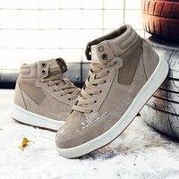 Большие размеры 14-15; мужские зимние ботинки; замшевые высокие повседневные кроссовки; Мужская плюшевая теплая обувь; Chaussures Homme; люксовый бре...