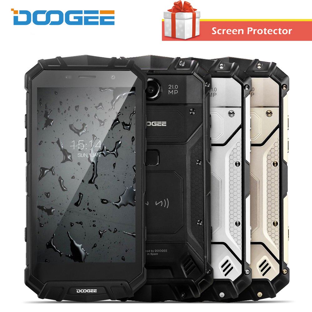 DOOGEE S60 Wireless Charge Helio P25 12V2A Quick Charge 6GB 64GB 21MP Waterproof Phone 5 2