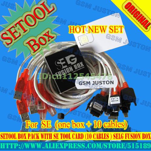2016 versão 100% original O Mais Novo Setool Box Pacote com SE Cartão Ferramenta (10 cabos) SELG Fusão Box