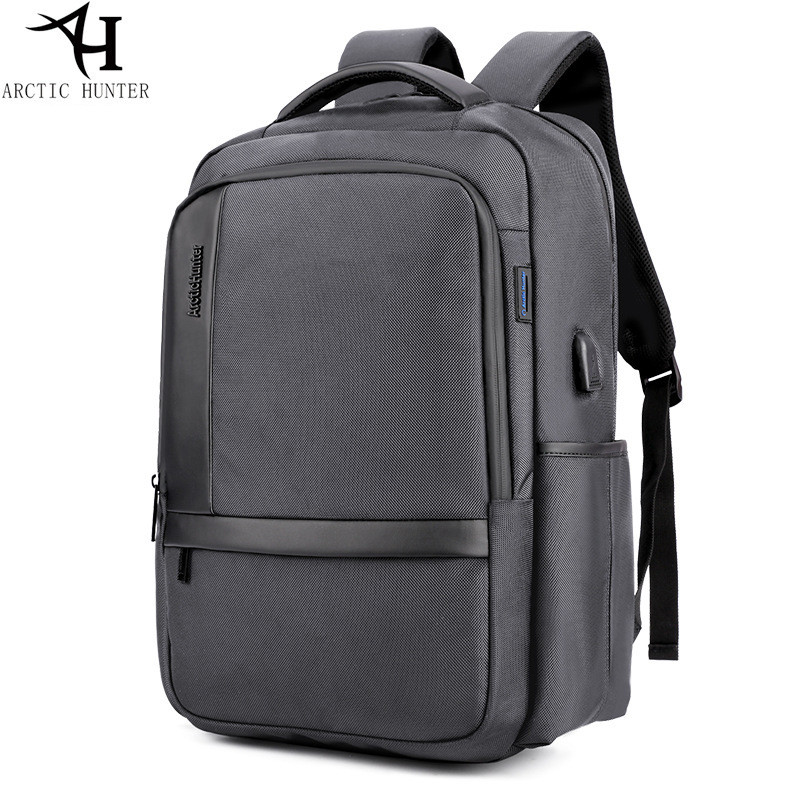 edce007fcbb5 US $30.94 48% OFF|ARCTIC HUNTER Brand External USB Charge Backpack Male  Mochila Escolar 15.6 inch Laptop Backpack men Urban Backpack for teen-in ...
