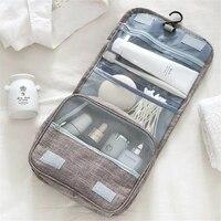 حقيبة سفر مستحضرات التجميل المحمولة للرجال والنساء ، حقيبة تخزين مستحضرات التجميل ذات السعة الكبيرة
