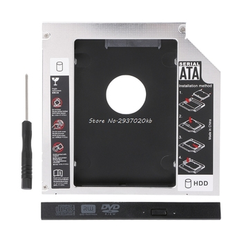 12.7mm 2nd HDD Caddy IDE To SATA 2.5″ SSD Case For Laptop DVD/CD-ROM Optical Bay    HUZZ_7