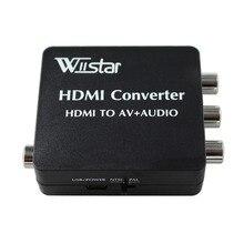 Лучшее решение VX8812 HDMI2AV конвертер HDMI К AV конвертер Поддержка SPDIF коаксиальный аудио NTSC PAL Video HDMI TO 3RCA адаптер