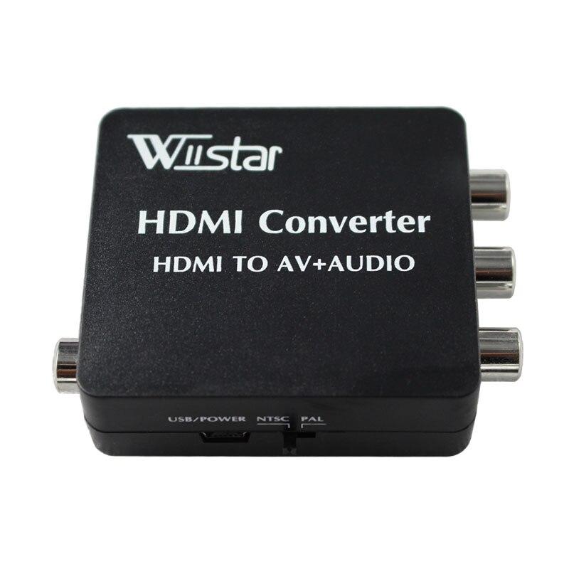 MIGLIORE SOLUZIONE VX8812 HDMI2AV Converter hdmi AV Converter Supporto Adattatore SPDIF Coassiale Audio NTSC PAL Video HDMI PER 3RCA