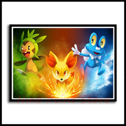 Pokemon Coated Paper Poster Print Pocket Monster Anime Picture for Living Room Wall Decoration Frameless