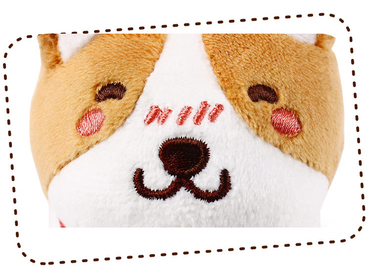 1pcs 1020cm Cute Corgi Dog Plush Toy Stuffed Dolls Lovely Soft Animal Cartoon Dog Plush Keychain for Baby Kids Christmas Gift (12)