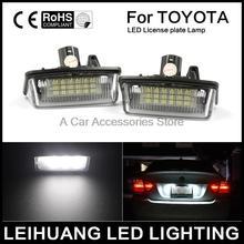 2x Car License Plate Luz led Apto Para Toyota Crown 03 ~ 09 número LED placa do painel Lâmpada Canbus 12 v