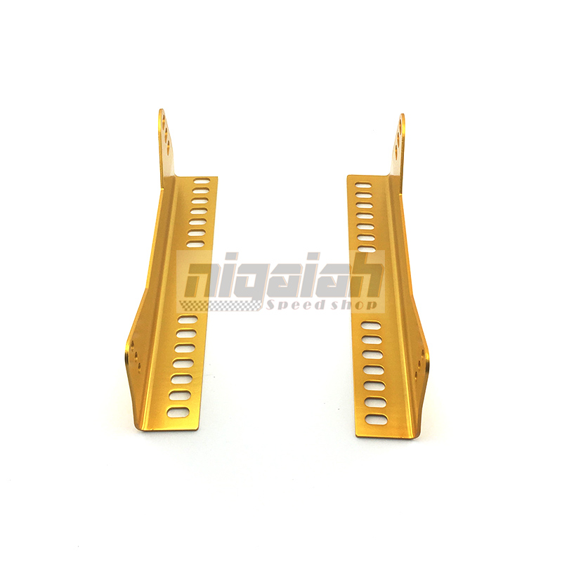 Auto Seat Replace Parts Aluminum Golden Lightweight Strength Seat Bottom Mount Seat Side Mount Slider L Board