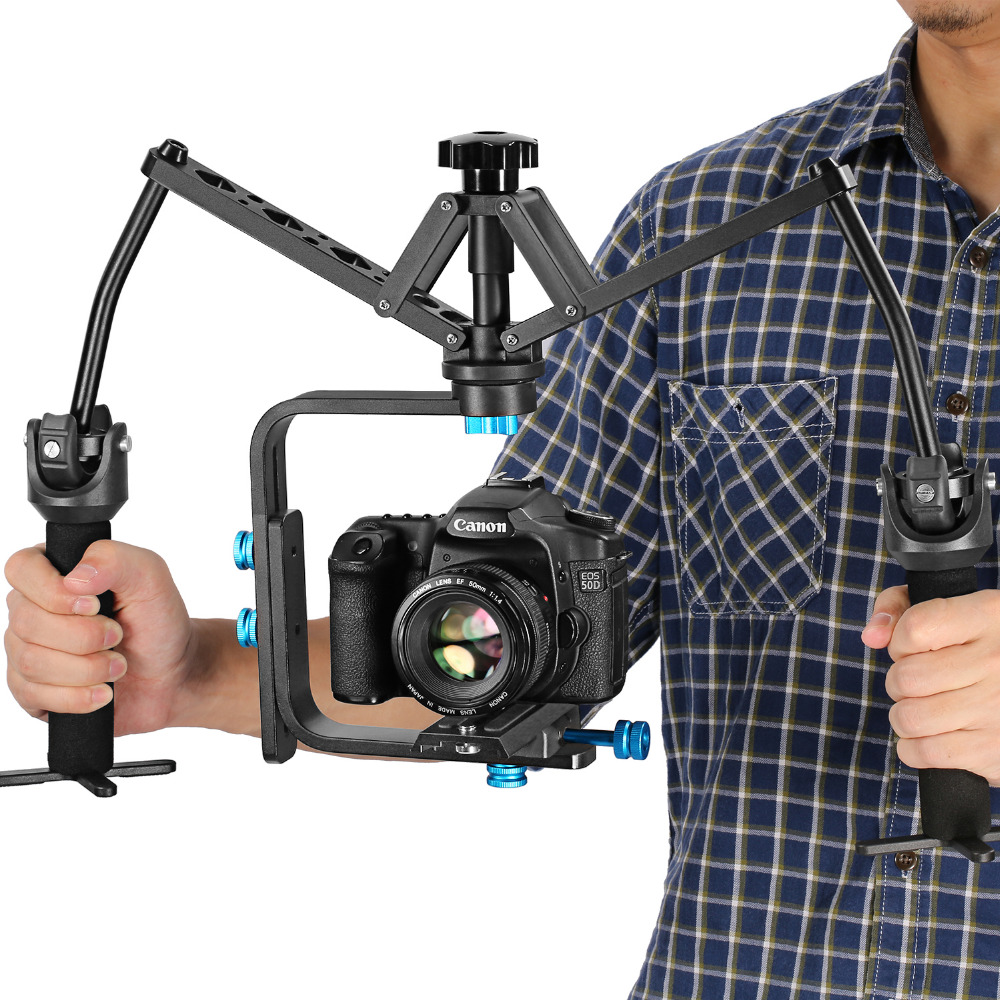 Neewer Portable Handheld Mechanical Stabilizer Joint Bearing Aluminum Alloy Construction For Canon Nikon Sony DSLR Camcorders