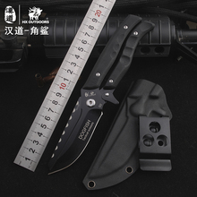 HX OUTDOORS survival knife multifunctional scissors dual purpose D2 blade high hardness knife hunting utility Knives