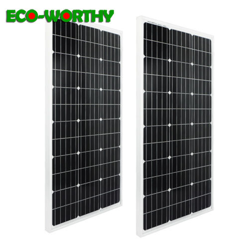 ECO 200W 18V monocrystalline Solar Panels system 100w 2pcs for 12v Battery off Grid System Solar