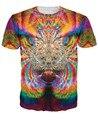 Mujeres/hombres ropa de moda Vortex Bestia T-Shirt colores brillantes coloridos 3d print summer t shirt trippy diseño sexy tee
