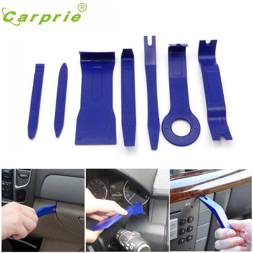 Car-styling CARPRIE 7Pcs Auto Car Dash Trim Door Panel Audio Stereo GPS Install & Removal Open Tools td7 Dropship
