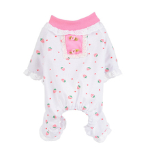Pajamas Puppy-Dog Doggy-Jumpsuit Small Home Pet Cotton Print Four-Legs Apparel Lace Cat