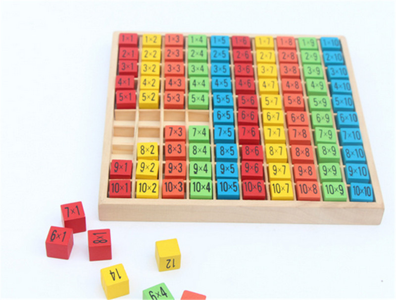 New Wooden Baby Toys 10x10 Multiplication table wooden