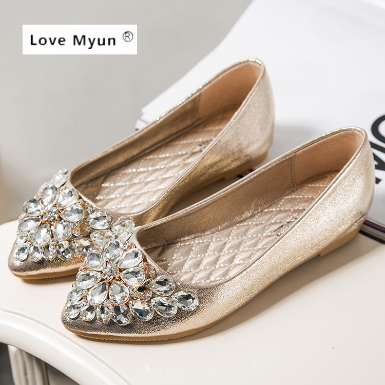 Spring Autumn Fashion Women Shoes Pointed Toe Slip On Flat Shoes Woman Comfortable Single Casual Flats