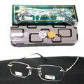 Titanium Rimless frameless gentlemen antireflective coating Non spherical reading glasses+1.0 +1.5 +2.0 +2.5 +3.0 +3.5+4.0