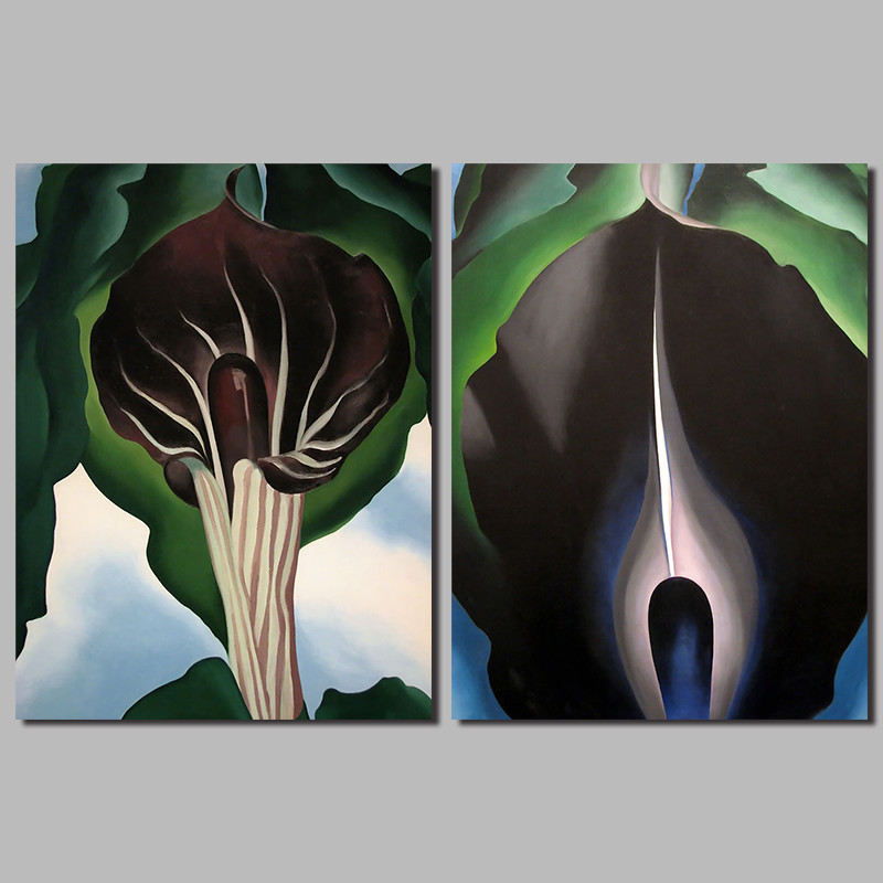 Abstract Flowers Morning Glory Decoration Forest Wall Art Pictures Black Canvas Painting For Living Room Home